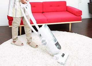 リビング清掃