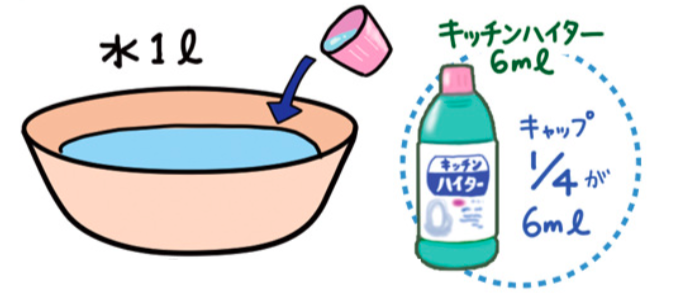 作り方 の ハイター 液 消毒